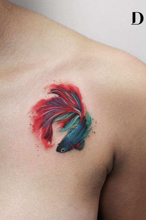 Betta Fish Tattoo Tattmaniatattmania
