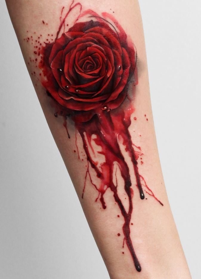 Bloody Rose Tattoo