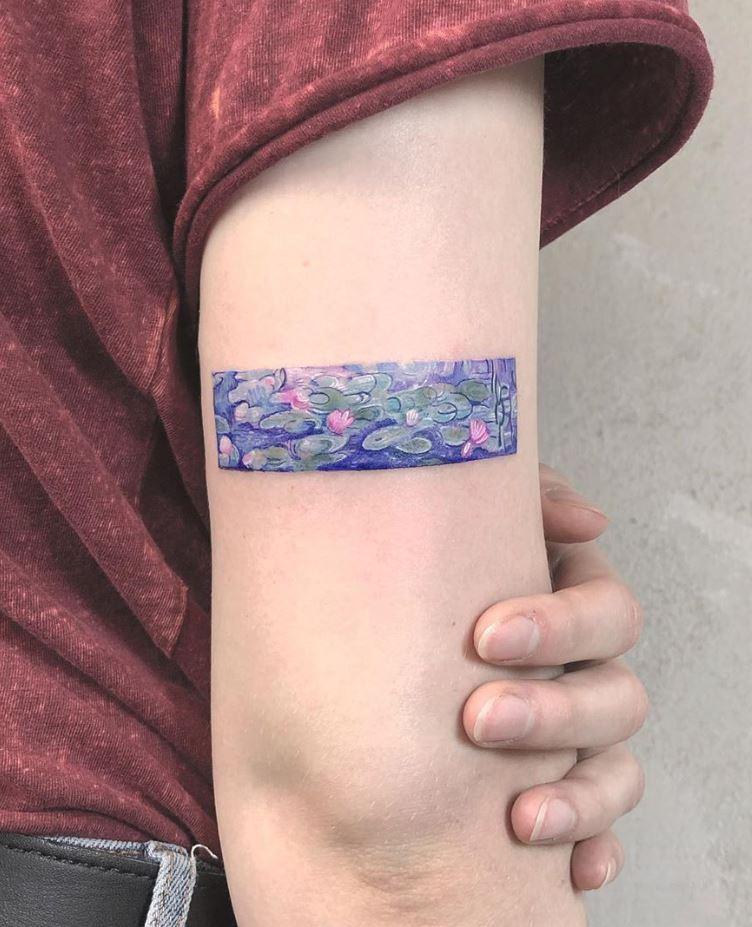 Claude Monet's Water Lilies Tattoo