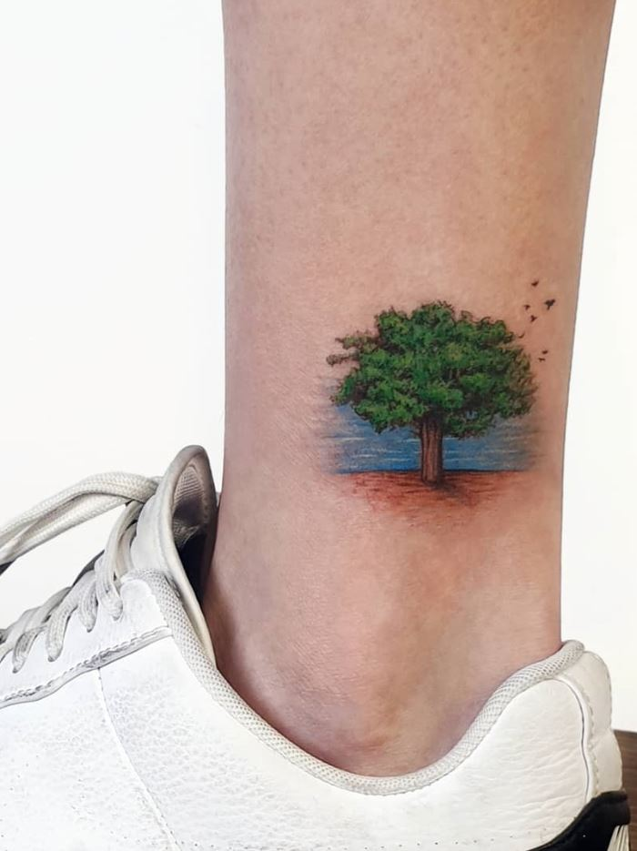 Green Tree Tattoo
