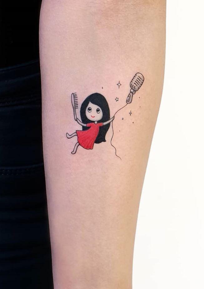 Teenager Girl Tattoo