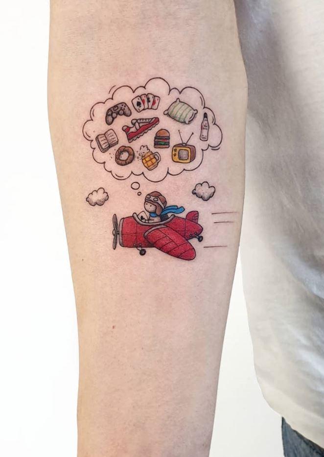 Thinking Pilot Tattoo