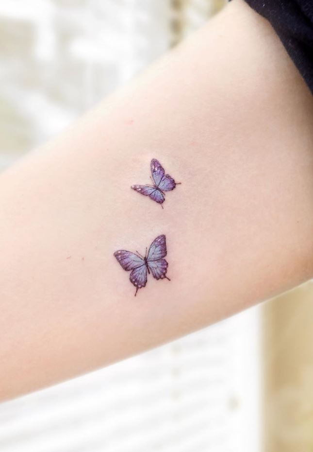 Tiny Butterflies Tattoo