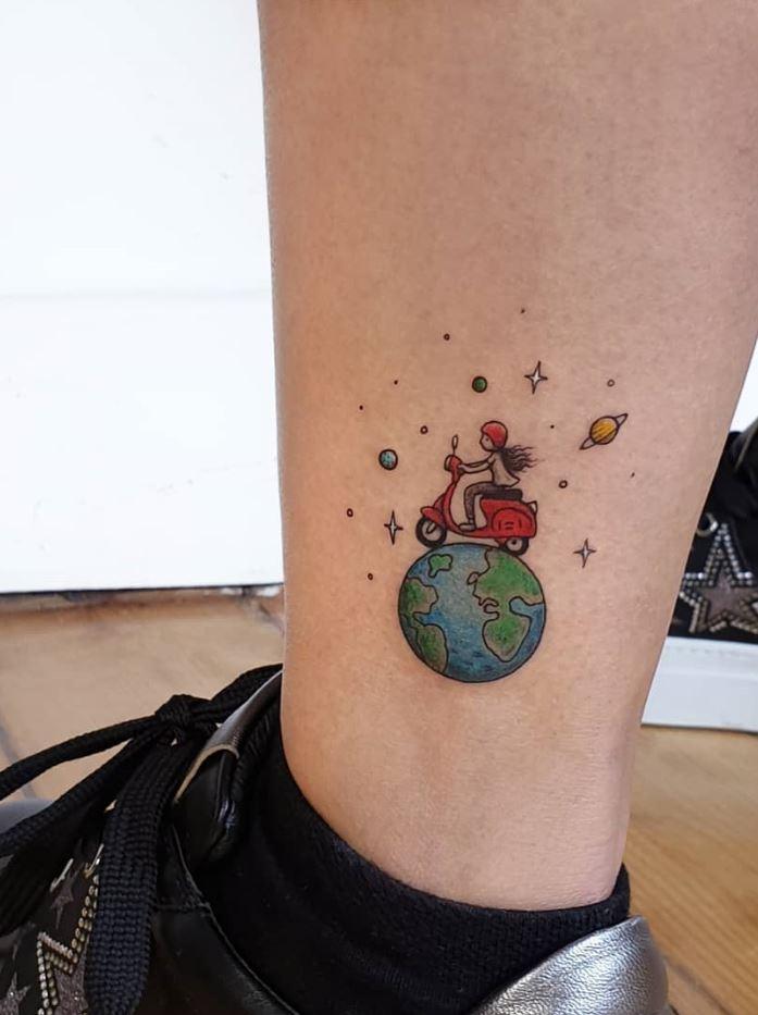 Traveler Girl Tattoo