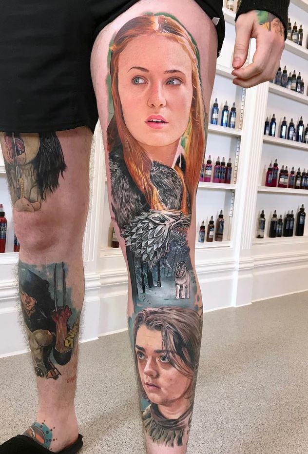 Arya & Sansa Stark Tattoo