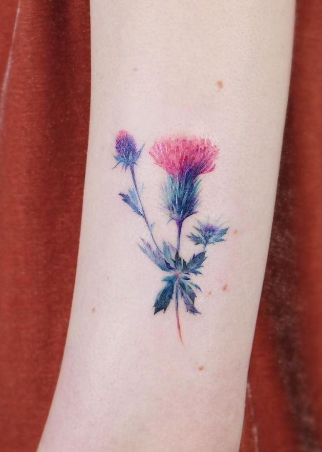 Burdock Flower Tattoo