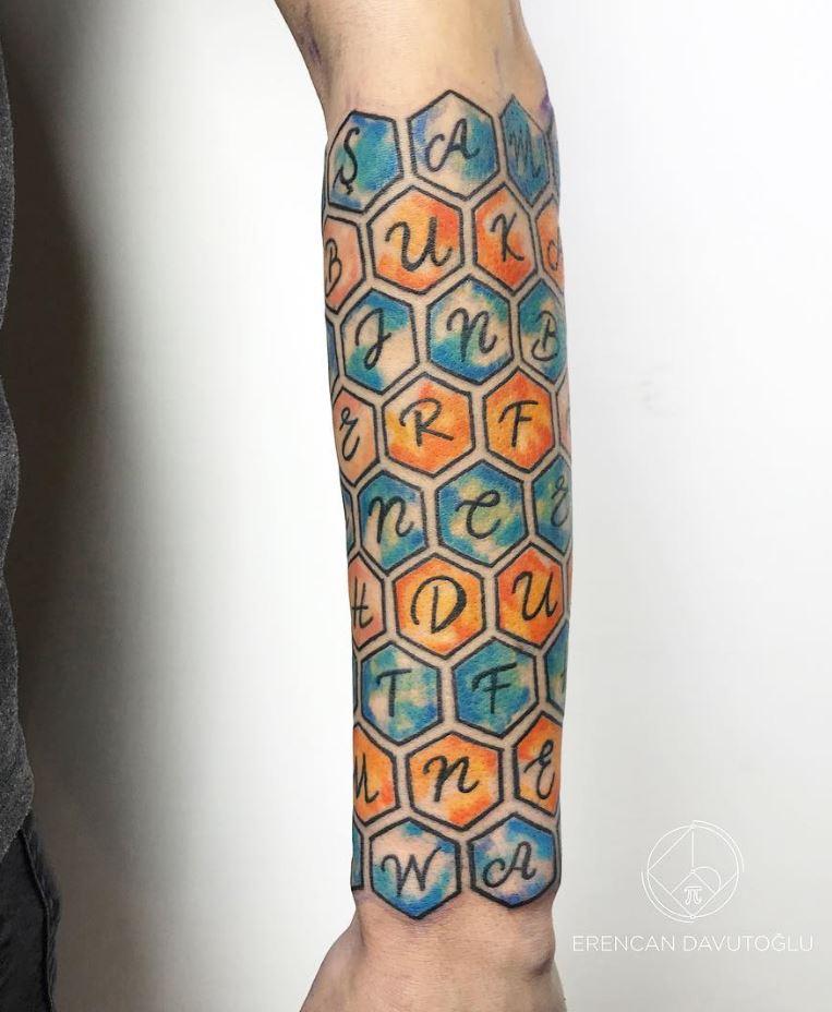 Honeycomb Tattoo