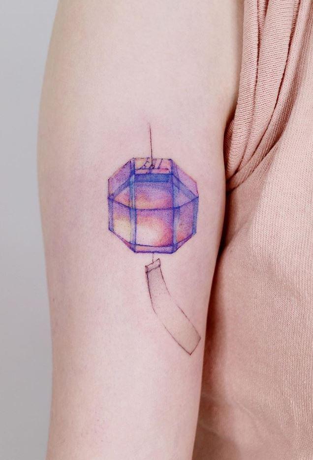 Korean Lantern Tattoo