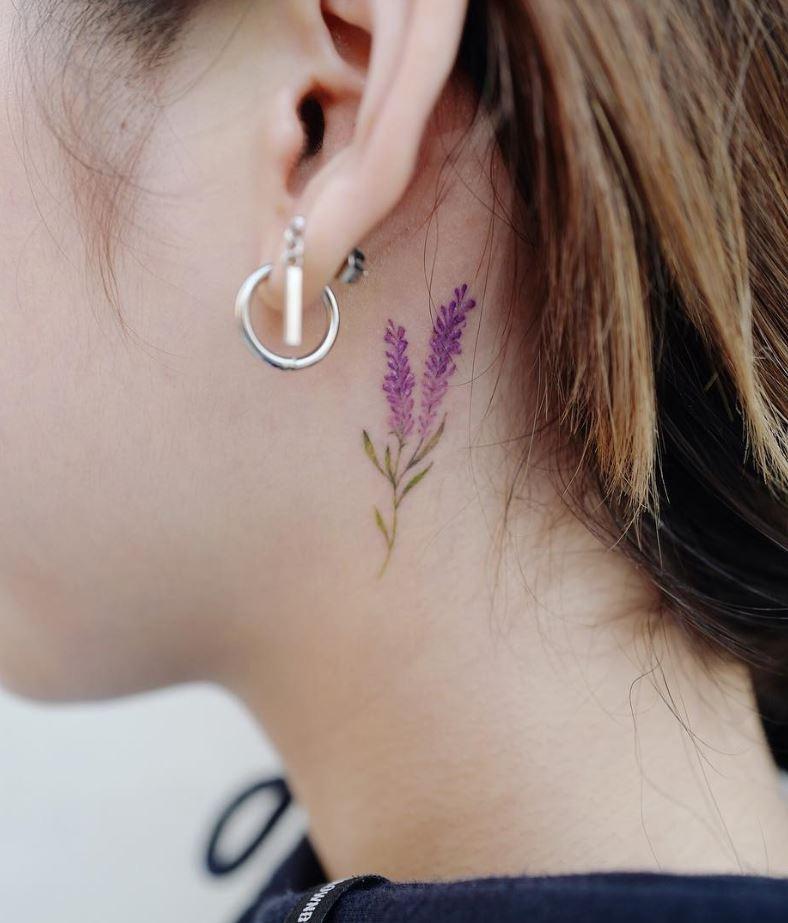 Lavender Flower Tattoo