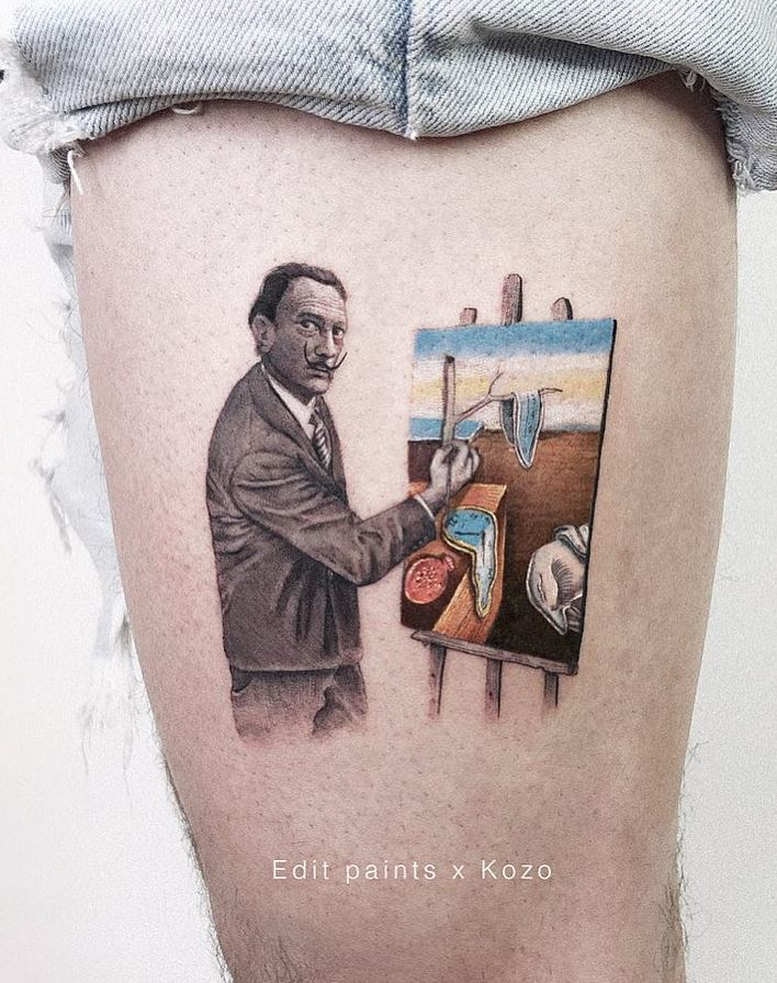 Salvador Dali Tattoo