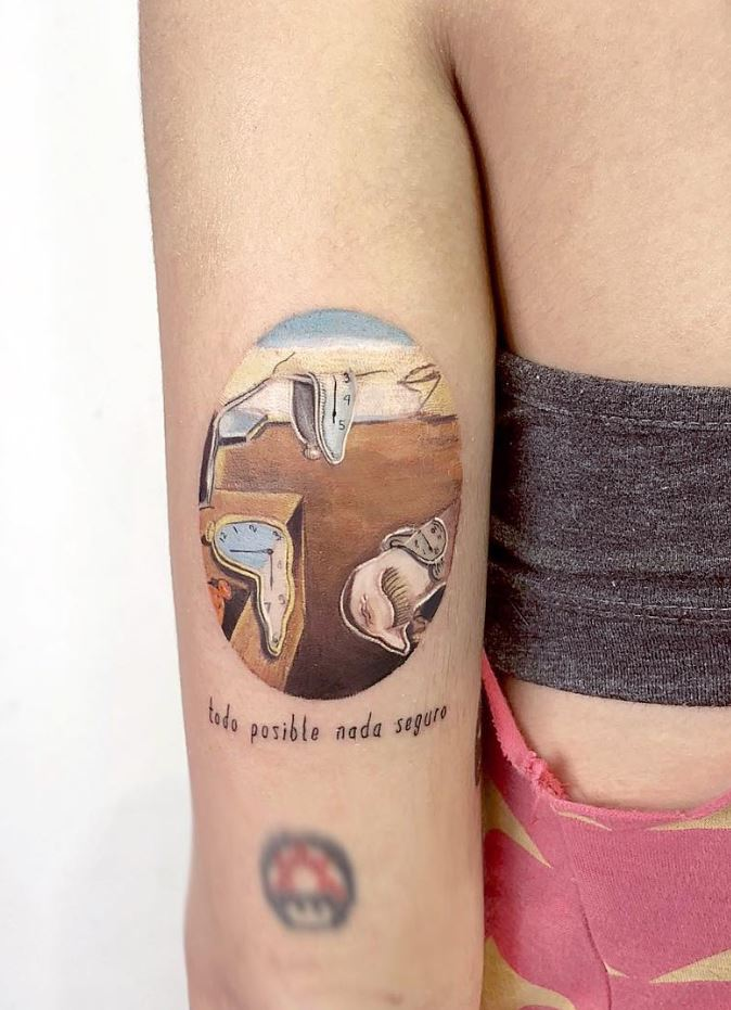 The Persistence of Memory Tattoo