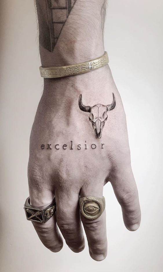 Bison Skull Tattoo