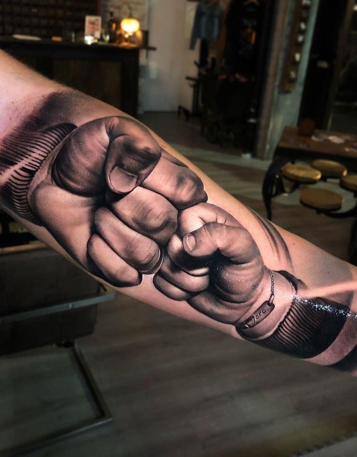 Fist Bumb Tattoo