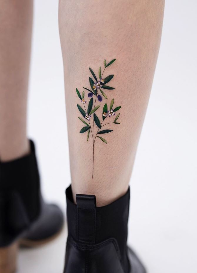Olive Leaf Tattoo