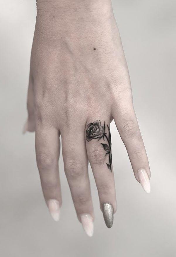 Tiny Rose Tattoo