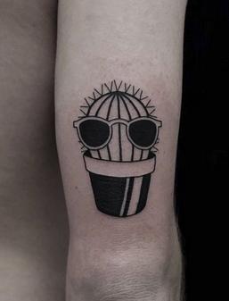 Cool Cactus Tattoo