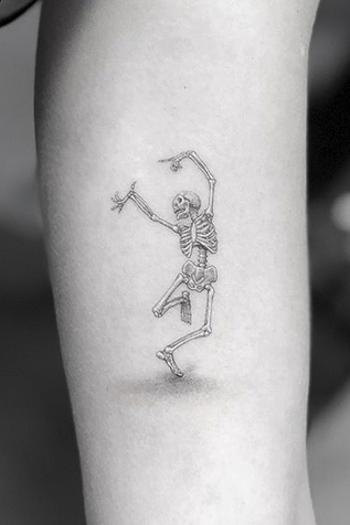 Dancing Skelton Tattoo