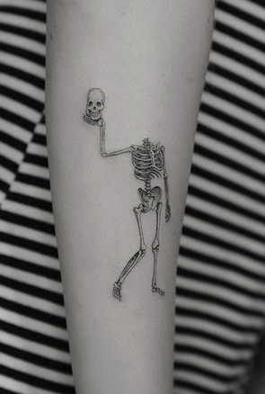 Funny Skelton Tattoo
