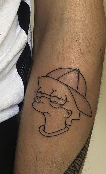 Lisa Simpson Tattoo