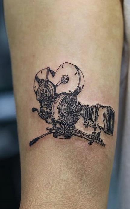 Movie Camera Tattoo