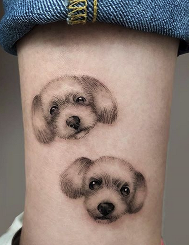 Small Cute Dogs Tattoo