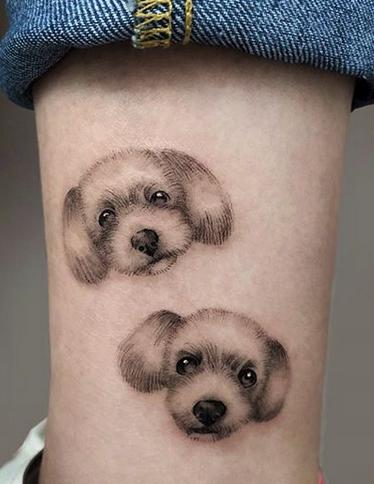 Small Cute Dogs Tattoo