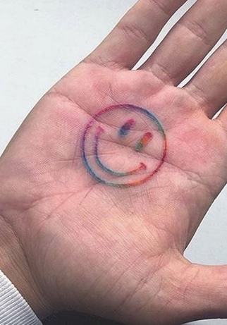 Smiling Face Tattoo