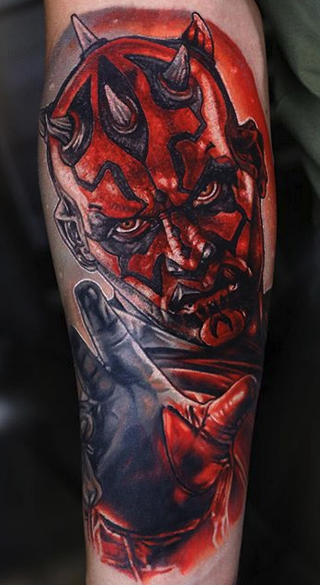 Star Wars Darth Maul Tattoo