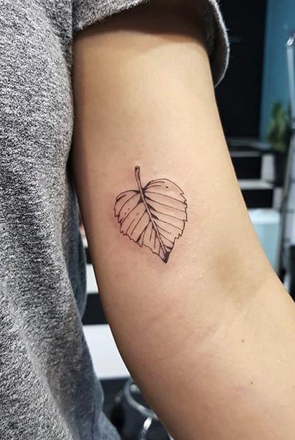 Tiny Leaf Tattoo