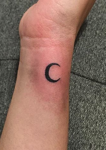 Tiny Moon Tattoo