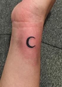 Tiny Moon Tattoo