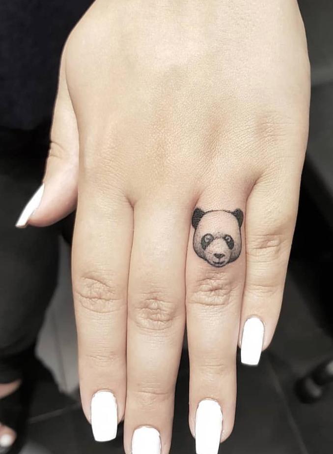 Tiny Panda Tattoo