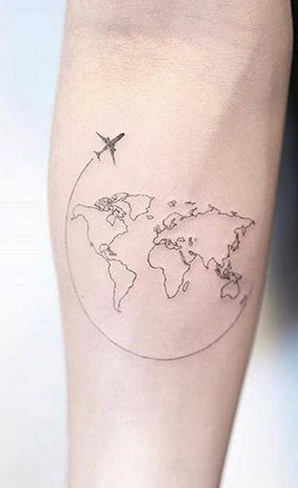 Travelling World Tattoo