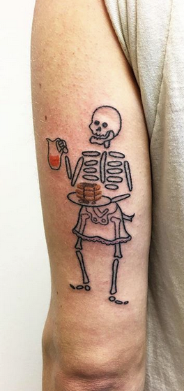Waiter Skelton Tattoo