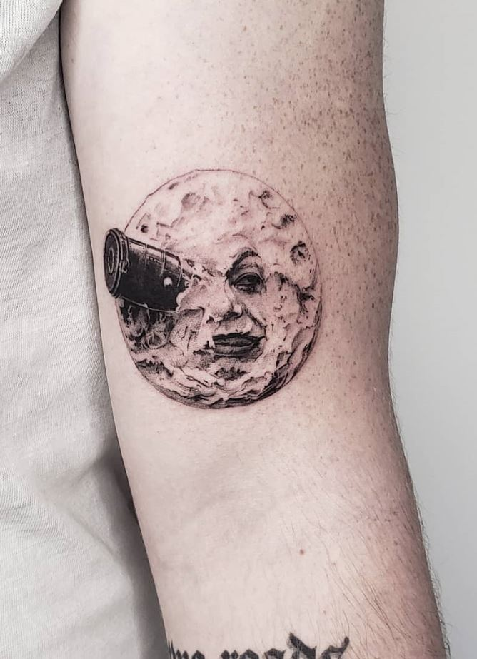 A Trip to the Moon Tattoo