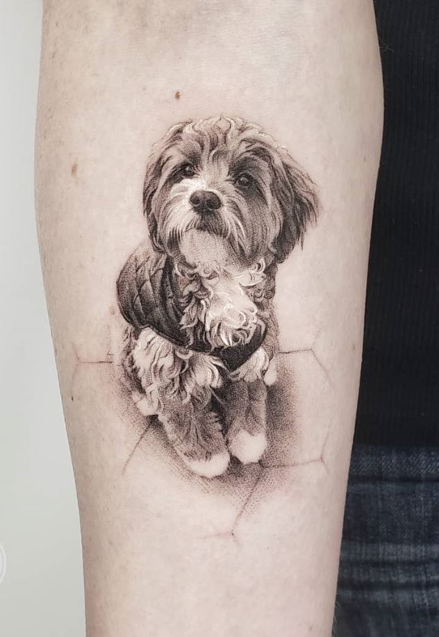 Cute Dog Tattoo