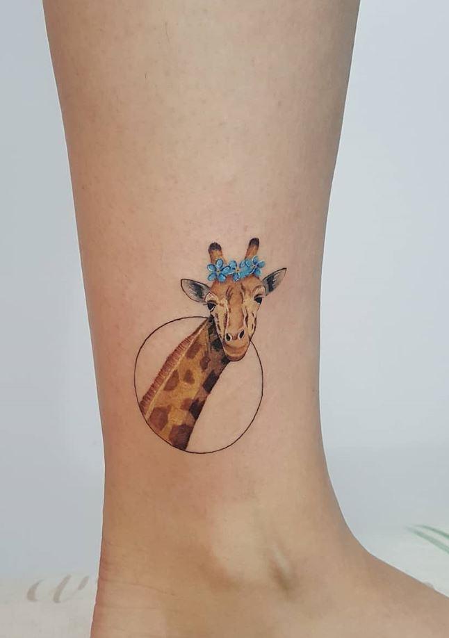 Cute Giraffe Tattoo