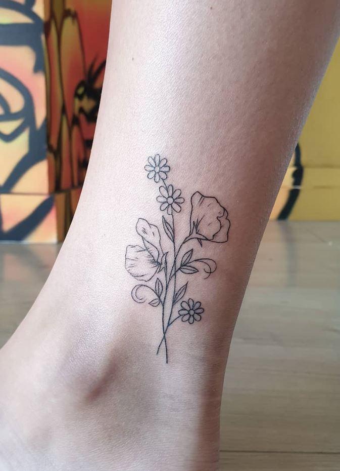 Daisy Flowers Tattoo