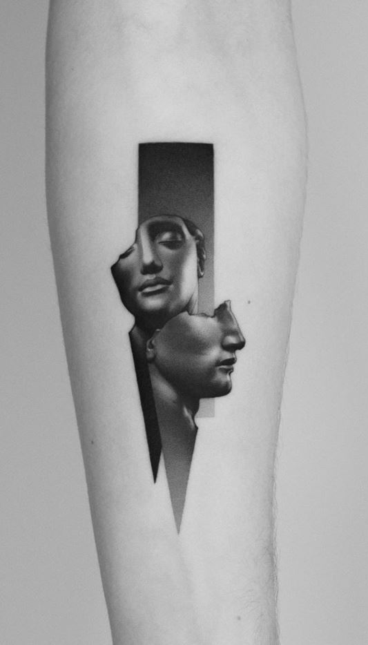Igor Mitoraj Sculpture Tattoo