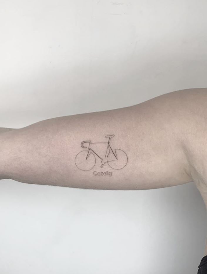 Little Bicycle Tattoo