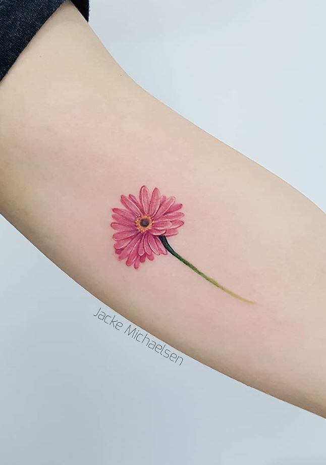 Pink Flower Tattoo
