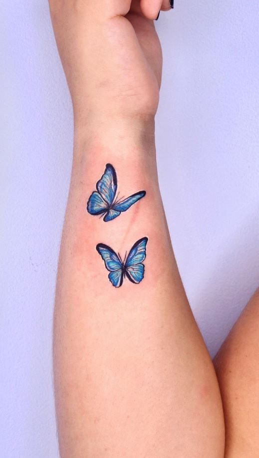 Small Butterflies Tattoos