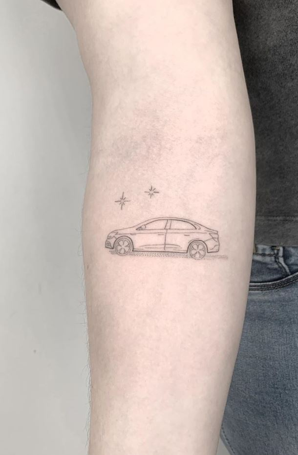 Small Car Tattoo