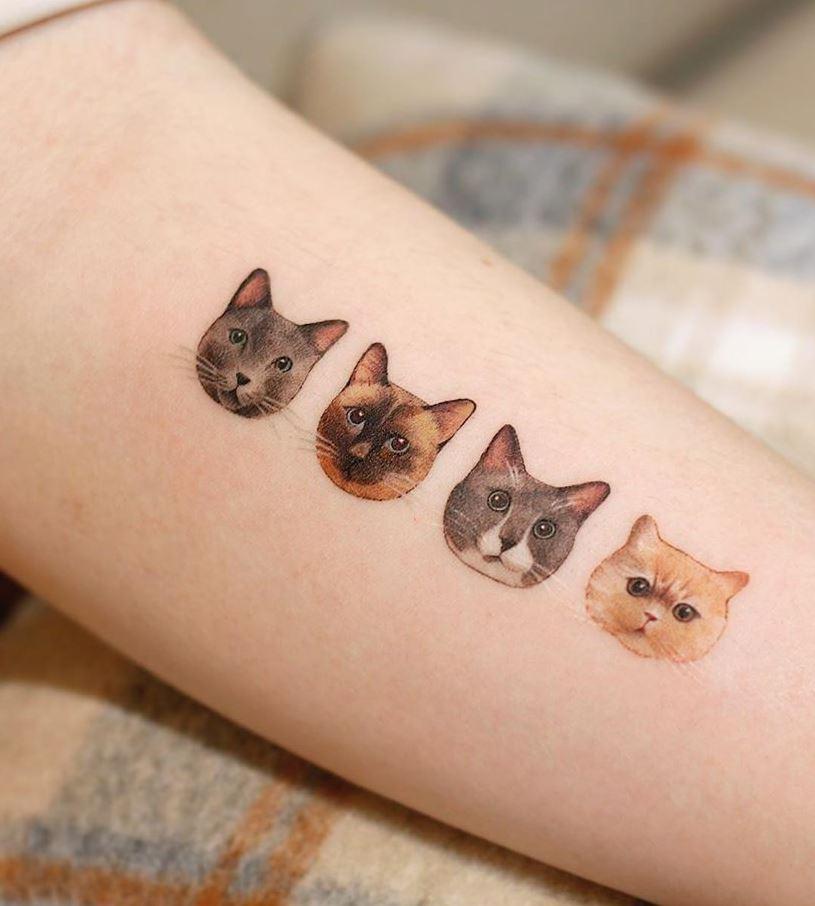 Small Cats Tattoo
