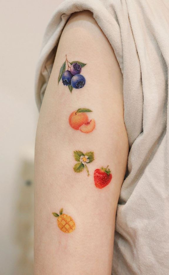 Small Fruits Tattoo