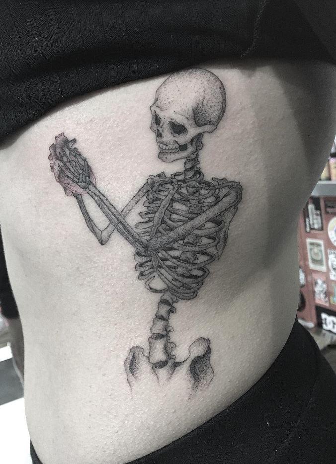 Sweet Skeleton Tattoo