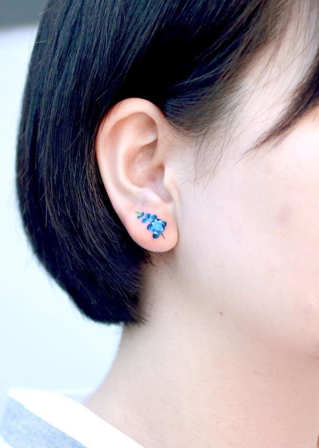 Tiny Ear Tattoo