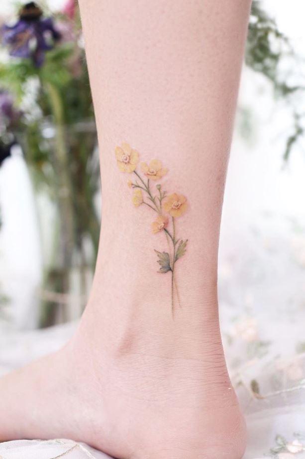 Yellow Flower Tattoo