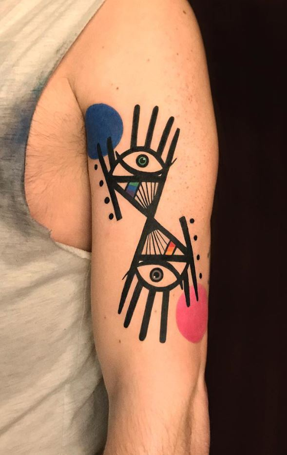 Abstract Eyes Tattoo
