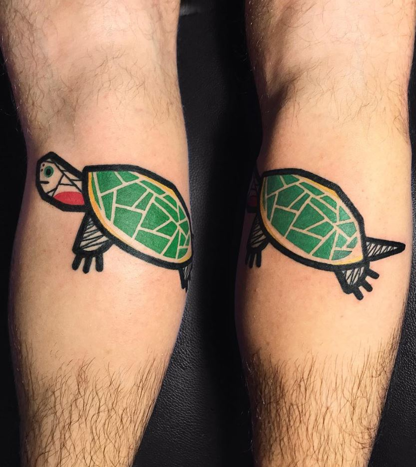 Abstract Turtle Tattoo